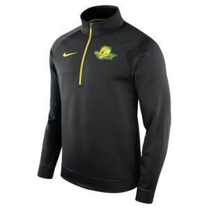 NWT $75  Nike OREGON DUCKS HALF-ZIP THERMA TOP